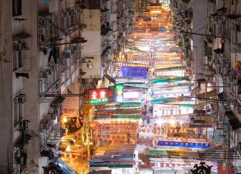 観光イメージ:男人街(ナンヤンガイ)=廟街(ミョウガイ)の景色